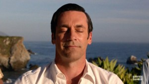 "Jon Hamm as Don Drapper finds peace with ""Om"""